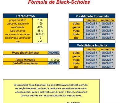 Fórmula de Black-Scholes