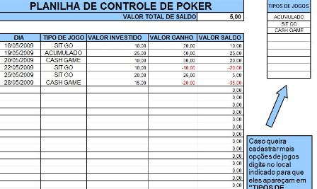 Controle de Poker