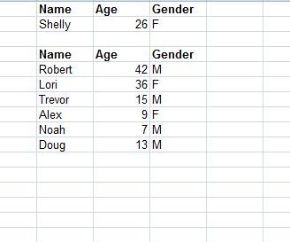 Lista para Nomes