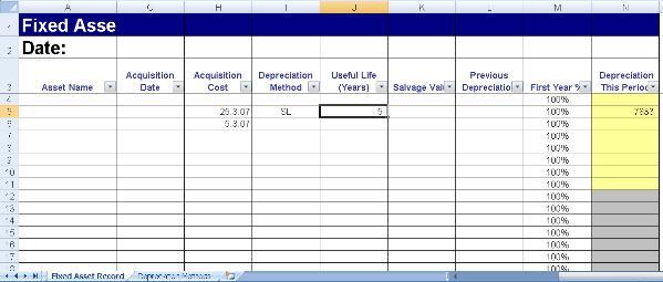 Registro de Ativo Fixo com Depreciação